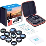 APEXEL 10 in 1 Phone camera Lens Kit Fisheye Wide Angle macro Lens CPL Filter Kaleidoscope and 2X telescope Lens for smartpho