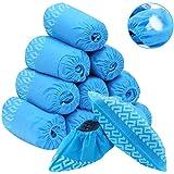 Protec44 - Lot de 50 Surchaussures jetables résistantes antidérapantes PP polypropylène en tissu non tissé bleu, Couvre-Chaus