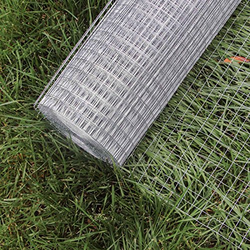 WilTec Maschendraht Drahtgitter Volierendraht Stahl verzinkt 1mx10m 0,7mm Drahtst�rke 12x12mm Maschenma�e