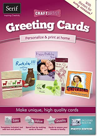 CraftArtist Greeting Cards (PC): Amazon.co.uk: Software