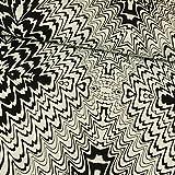 Viskose Jerseystoff grafisches Muster schwarz & weiß