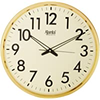 Ajanta Quartz Wall Clock (32 cm x 32 cm x 32 cm, Gold)