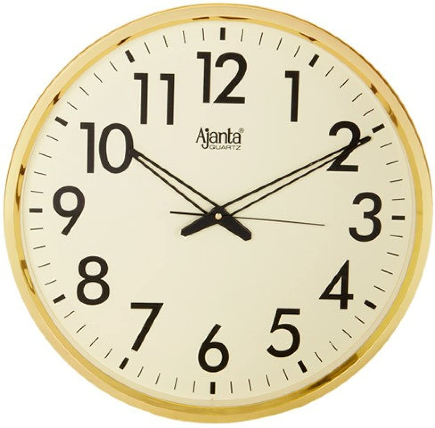 Buy ajanta quartz wall clock 32 cm x 32 cm x 2 cm white dial and buy ajanta quartz wall clock 32 cm x 32 cm x 2 cm white dial and silver rim online at low prices in india amazon amipublicfo Choice Image