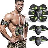 HOPOSO Electroestimulador Muscular Abdominales, Estimulación Muscular Masajeador Eléctrico Cinturón Abdomen/Brazo/Piernas/Glú