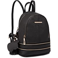 Miss Lulu Women Fashion Backpack Casual Small Saffiano PU Leather Waterproof Rucksack Shoulder bags