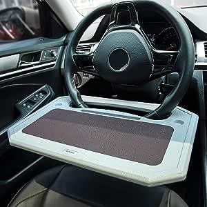 Ticarve Lenkrad Schreibtisch Multifunktional Auto Tisch Tragbare Lenkrad Tisch Laptop Tablett Auto Esstisch Mit Getränkehalter Für Die Passen Meisten Lenkräder Von Fahrzeugen Ausgelegt Auto