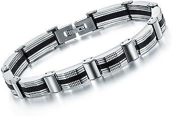 Yellow Chimes Strand Bracelet for Boys (Silver) (YCSSBR-0004625SLBK-B)