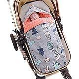 Bebé Saco de Dormir 2.5 Tog, 88 * 46cm Ajustable Invierno Saquito de Dormir con Capucha Desmontable Hombreras Niños Anti-choq