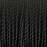 LED Lighting Fils Electriques Torsadé Tissu Rétro, câble électrique tressé recouvert de textile, câble de lumière de 2 fils (