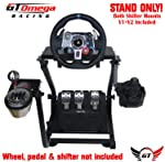 GT Omega Steering Wheel Stand PRO for Logitech G29 G920 with Shifter Mounts V1 & V2, Thrustmaster T500 T300 TX & TH8A...