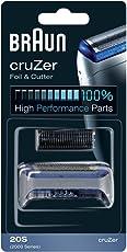 Braun Elektrorasierer Ersatzscherteil 20S, kompatibel mit cruZer Rasierern, schwarz