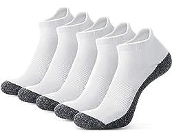 Men's Ankle Athletic Socks, Mens Running Socks Cotton Crew Socks Nonslip Athletic Sports Socks for Outdoor Sports Hiking Trek