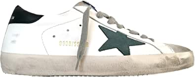 Golden Goose Sneakers Uomo Vintage Superstar G35MS590.Q21 Bianco-Verde Pino