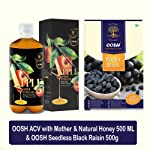 OOSH Hatke Combo of ACV with Mother & Natural Honey 500ML & Seedless Black Raisin 500g