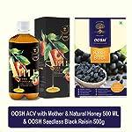 OOSH Hatke Combo of ACV with Mother & Natural Honey 500ML & Seedless Black Raisin 500g