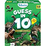 Skillmatics Card Game : Guess in 10 Deadly Dinosaurs   Gifts for Ages 8 and Up   Super Fun for Travel & Family Game Night