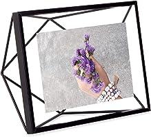 UMBRA Prisma. Cadre photo filaire en métal entre deux-verres Prisma. A poser ou à accrocher. Pour 1 photo 10x15cm. Coloris Noir