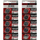 Pilas de botón de litio de 3 V Maxell originales Cr2032, 10 unidades