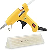 OTOVON™ 20W Yellow Mini Hot Melt Glue Gun With 10 Glue Sticks, Size - 7mm x 20cm