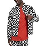 Urban Classics Herren Jeansjacke mit Schachbrettmuster Check Twill Jacket