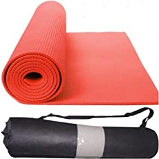 Quick Shel QS-MZH17G2 Yoga Mat Combo, 4mm (Red)