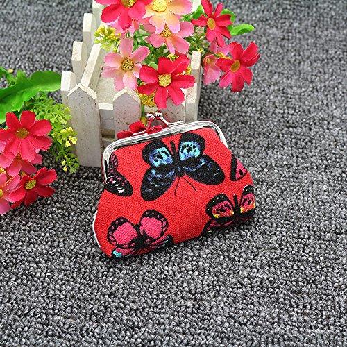 Crylee 2019 Frauen Hand bestickte Brieftasche Schmetterlingsdruck Mini Geburtstagsgeschenk Handytasche kleine Tasche Umhängetasche Frau kleine Tasch Weihnachtsgeschenk Liebhaber senden -