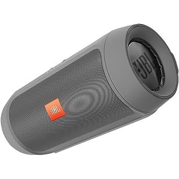 JBL Charge 2+ Altoparlante Stereo Bluetooth Wireless Portatile a Prova di Schizzo con Batteria Ricaricabile, Ingresso Stereo 3,5, Microfono Soundclear, Compatibile con Dispositivi iOS Apple e Android, Grigio