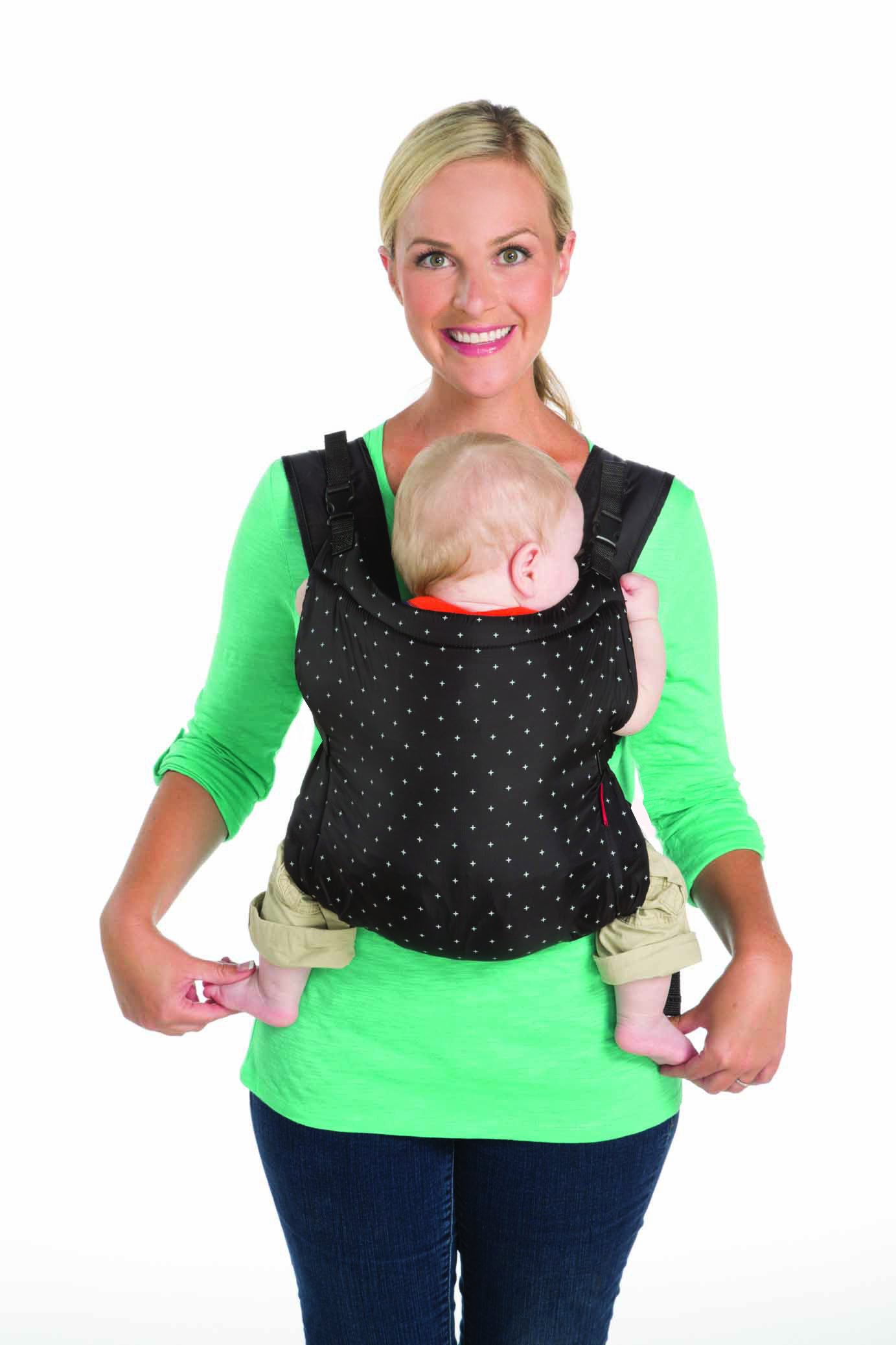 Infantino Zip Ergonomic Baby Travel Carrier, Black Infantino Fully safety tested Travel carrier that unfolds to for safe secure baby wearing Up to 18 kg 6