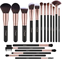 BESTOPE Makeup Brushes Professional Makeup Brush Set 18PCs Make Up Brushes Premium Synthetic Foundation Brush Blending...