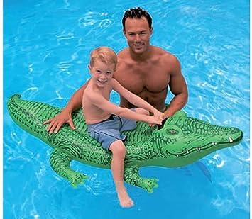 Kids Children Ride On Inflatable Toys Pool Toys Large Jumbo Crocodile  Dolphin Whale Rider Ride On Beach Swimming Lilo (Crocodile 142 X 68CM):  Amazon.co.uk: ...