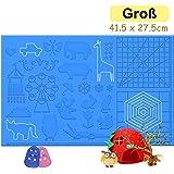 3D Stifte Matte, große Matte (41,5 x 27,5cm) mit Tiermuster hilfreich für Anfänger, Kinder und 3D-Stiftkünstler, mit 2…