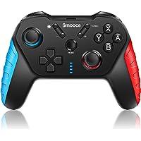 Smooce Controller per Nintendo Switch,pro controller Switch wireless con giroscopio a 6 assi,Turbo regolabile,doppia…
