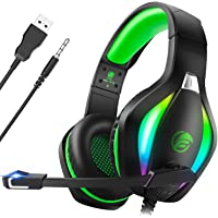 Fachixy Gaming Headset for PC, PS4, PS5, Xbox One, Switch with RGB light, Noise Cancelling Gaming Headphones with Mic…
