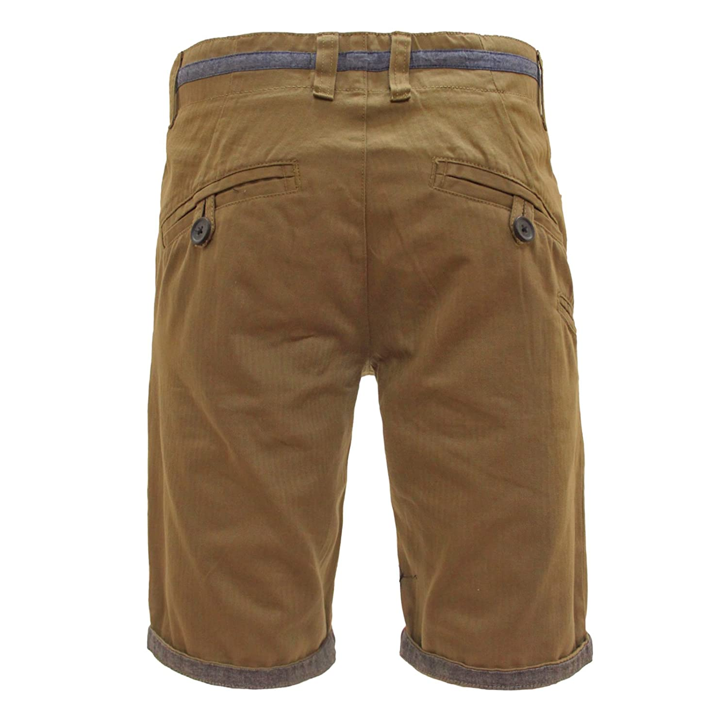 """Bellfield Mens Shorts New Tan Size 28"""" Clothing, Shoes & Accessories"""