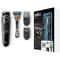Braun BT5042 Barttrimmer und Haarschneider, 39 Längeneinstellungen, AutoSense-Technologie, schwarz/grau