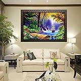 PARI ARTS Wood Framed Painting, Multicolour, Nature, 56 x 70 cm