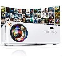 Vidéoprojecteur Bluetooth 7800 LM, TOPTRO Projecteur Full HD, Natif 1920x1080 Soutien 4K, Contraste 10000:1, Correction…