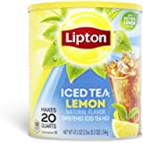 Lipton Iced Tea - Natural Lemon - Makes 20 Quarts - Net weight 47.2oz (2lbs 15.2oz) 1.34kg