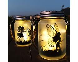 Lanterne Solaire, Mostof IP44 Étanche Extérieur Mason Jar Solaire Lampe pour Patio Pelouse Fête Les lumières Jardin Décoratio