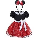 IEFIEL Vestidos Princesa de Fiesta Bebés Niñas Vestido Tutú Lunares de Danza Ballet con Diadema Ropa Infantil Conjuntos de Ni