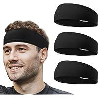 Flintronic Sport Headband, 2 Pezzi Fascia da Corsa, Antiscivolo umidità Ampia Fascia per Capelli,Fasce Antisudore…