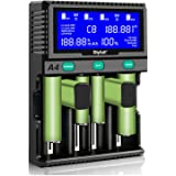 Batteri AA batteriladdare, 9 V laddningsbatterier 18650 batteriladdare LCD-batteriladdare snabbladdare för uppladdningsbara b
