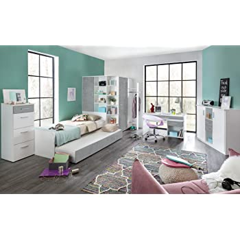 smartbett jugendzimmer komplett set limo 02 5 tlg esche natur violett jugendzimmer komplett. Black Bedroom Furniture Sets. Home Design Ideas