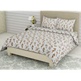 Linenwalas King Size Bed Sheets with Pillow Covers | 300 TC Premium Cotton Bedsheet Easy Wash Soft Sateen Weave 108x108…