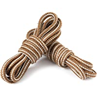 LARGERED Round Work Boot Laces Heavy Duty,Durable Shoelaces for Hiking,Walking,Outdoor Boots and Steel Toe Cap Boots…