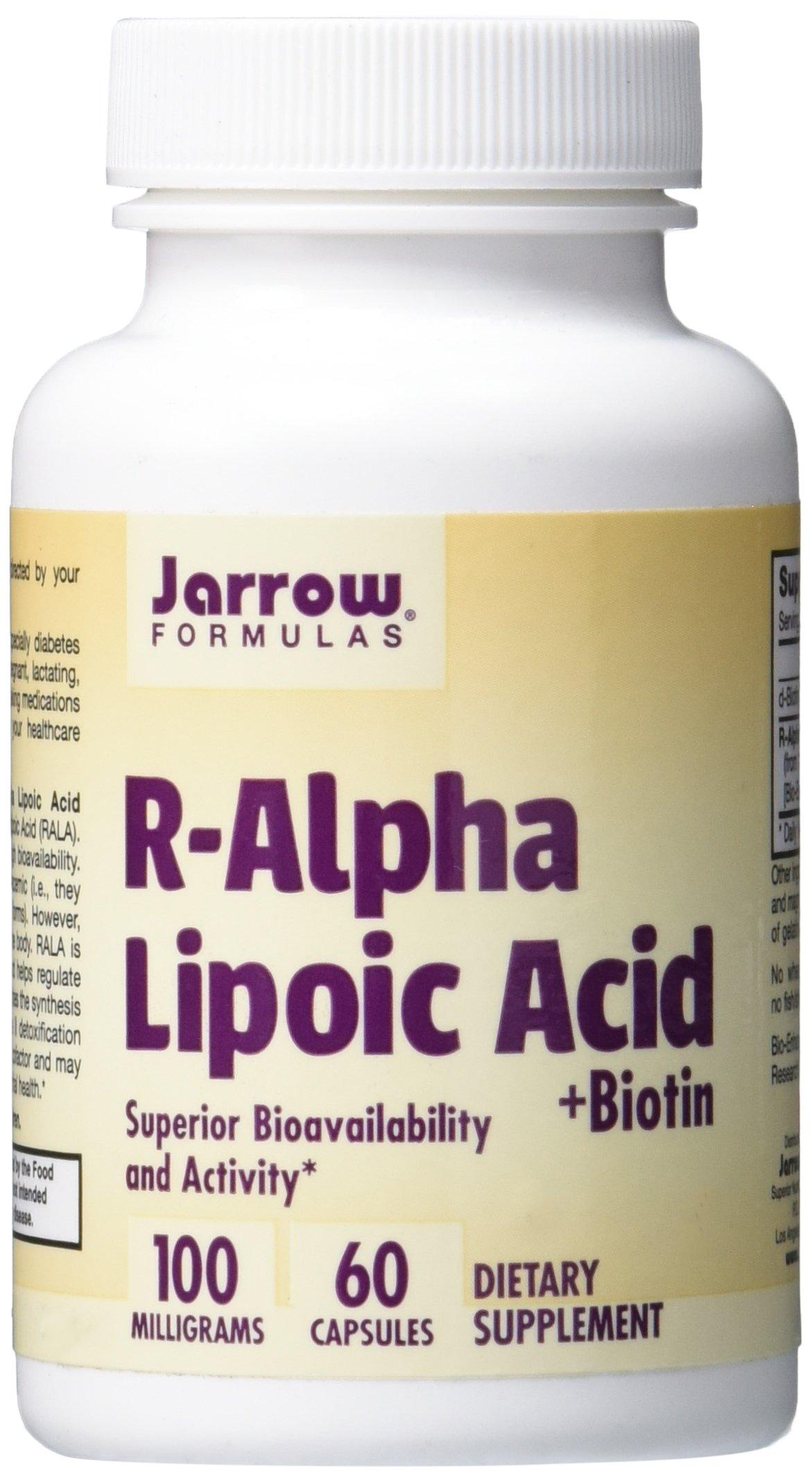 71W6Qq1ViGL - Jarrow Formulas Jarrow R-Alpha Lipoic Acid with Biotin (100mg, 60 Capsules), 1 Units