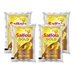 Marico Saffola Gold, Pro Healthy Lifestyle Edible Oil, 4 X 1 L