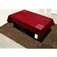 Kuber Industries Center Table Cover Maroon Cloth Net 40*60 Inches