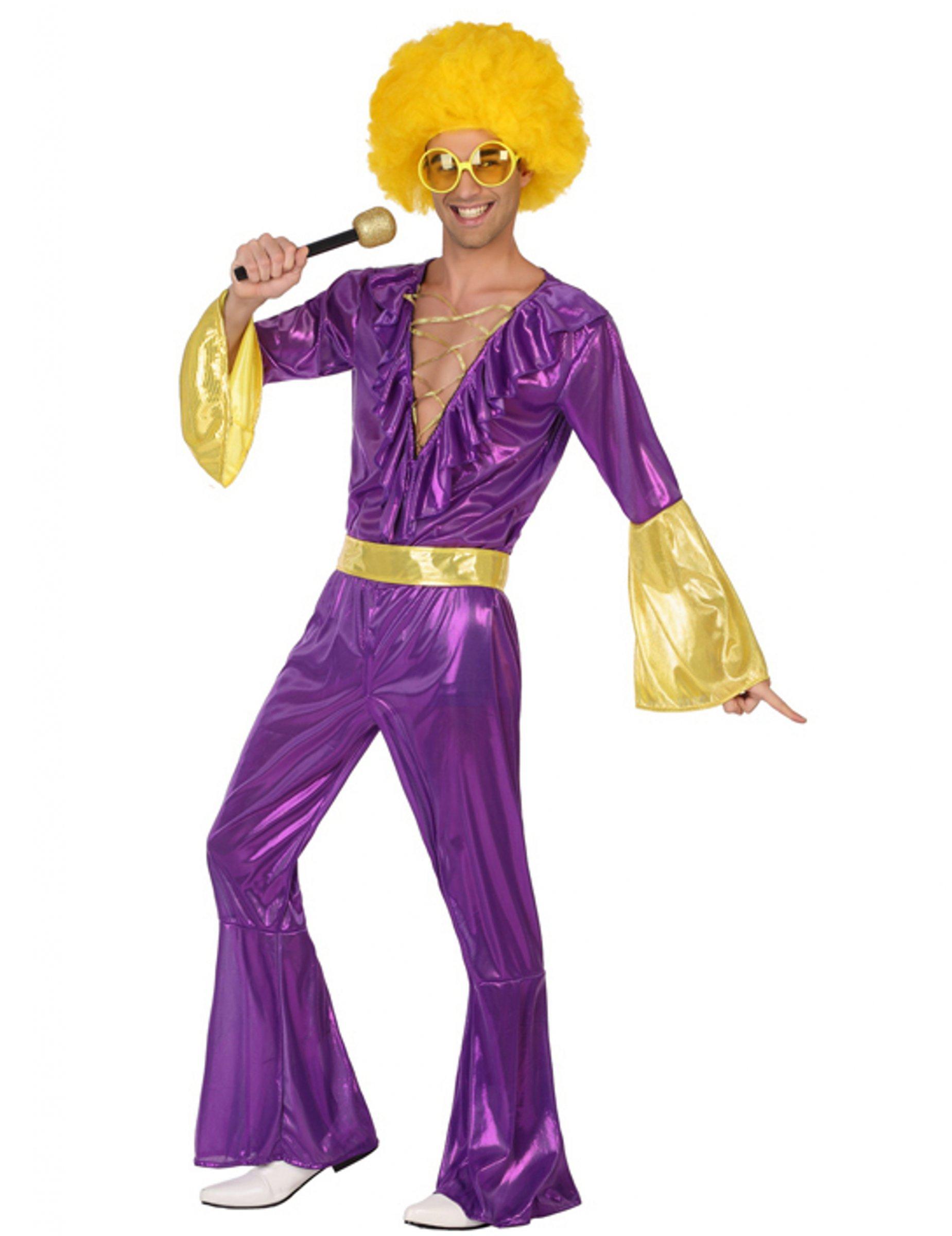 Atosa Disfraz Disco Morado para Hombre