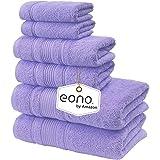 Eono by Amazon, Toallas de SPA y Hotel Juego de Toallas de 6 Piezas, 2 Toallas de baño, 2 Toallas de Mano y 2 toallitas(Rosa